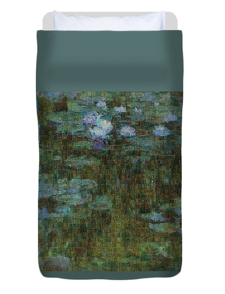 Tribute to Monet - 1 - Duvet Cover - ALEFBET - THE HEBREW LETTERS ART GALLERY