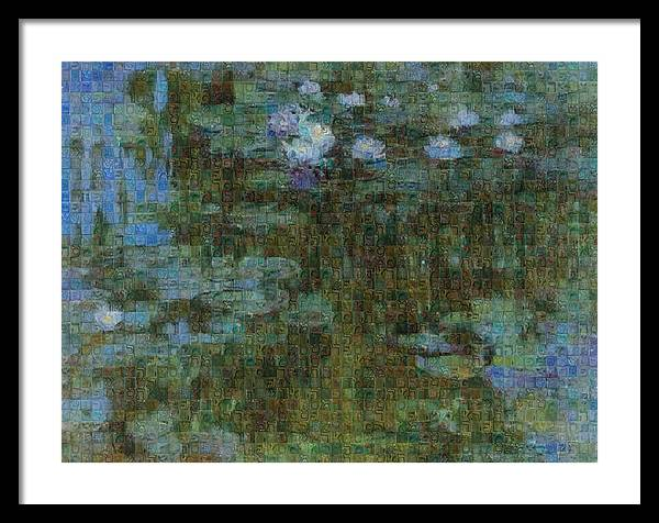 Tribute to Monet - 1 - Framed Print - ALEFBET - THE HEBREW LETTERS ART GALLERY
