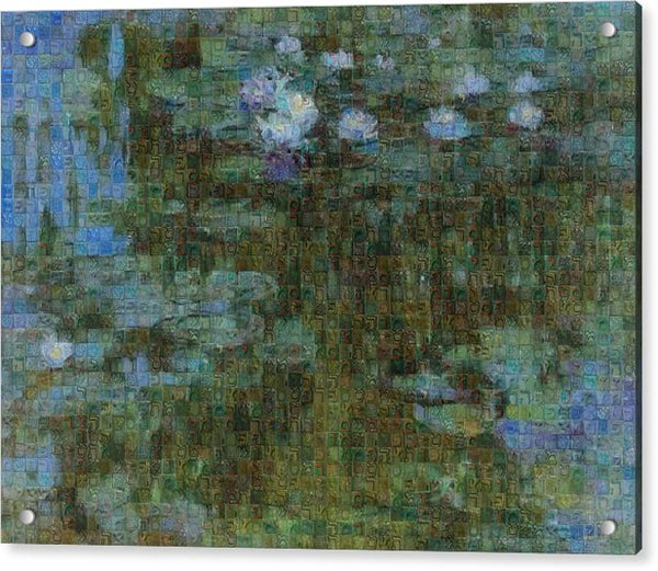 Tribute to Monet - 1 - Acrylic Print - ALEFBET - THE HEBREW LETTERS ART GALLERY