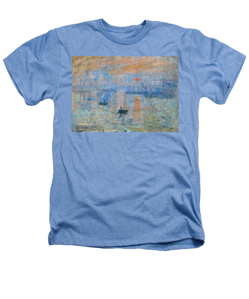 Tribute to Monet - 2 - Heathers T-Shirt - ALEFBET - THE HEBREW LETTERS ART GALLERY