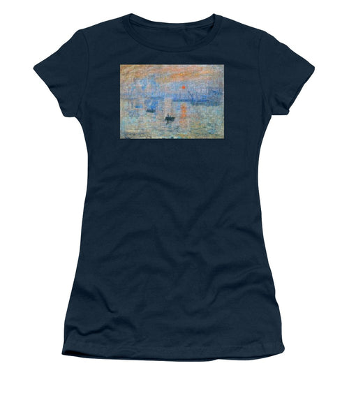Tribute to Monet - 2 - Women's T-Shirt - ALEFBET - THE HEBREW LETTERS ART GALLERY