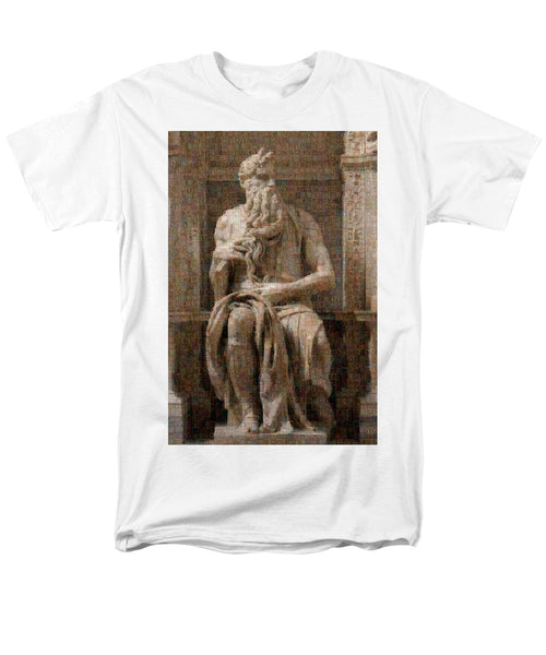 Tribute to Moses - Men's T-Shirt  (Regular Fit) - ALEFBET - THE HEBREW LETTERS ART GALLERY