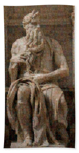 Tribute to Moses - Beach Towel - ALEFBET - THE HEBREW LETTERS ART GALLERY