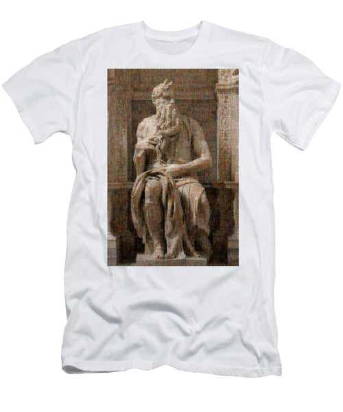 Tribute to Moses - T-Shirt - ALEFBET - THE HEBREW LETTERS ART GALLERY