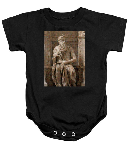 Tribute to Moses - Baby Onesie - ALEFBET - THE HEBREW LETTERS ART GALLERY