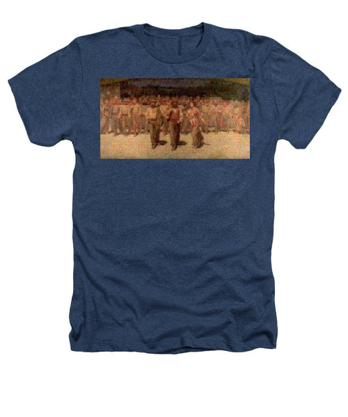 Tribute to Pellizza da Volpedo - Heathers T-Shirt - ALEFBET - THE HEBREW LETTERS ART GALLERY