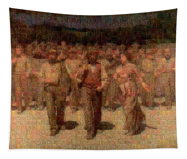 Tribute to Pellizza da Volpedo - Tapestry - ALEFBET - THE HEBREW LETTERS ART GALLERY