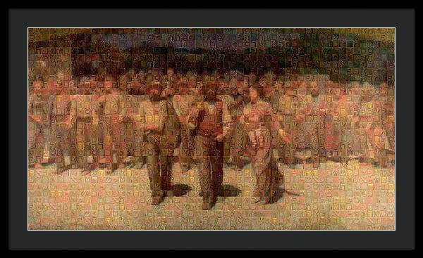 Tribute to Pellizza da Volpedo - Framed Print - ALEFBET - THE HEBREW LETTERS ART GALLERY