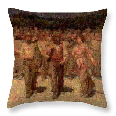 Tribute to Pellizza da Volpedo - Throw Pillow - ALEFBET - THE HEBREW LETTERS ART GALLERY