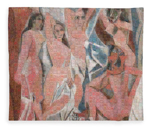 Tribute to Picasso - 1 - Blanket - ALEFBET - THE HEBREW LETTERS ART GALLERY