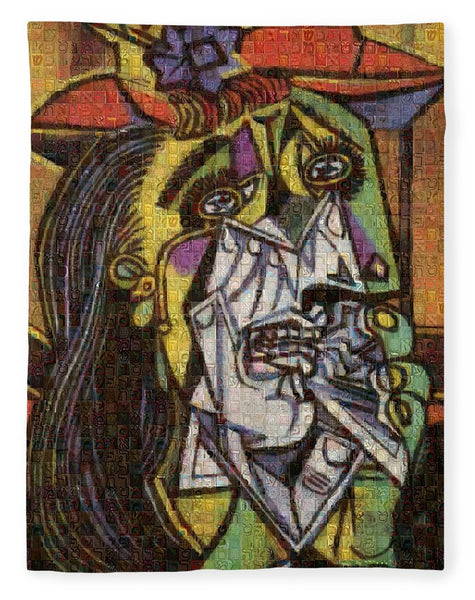 Tribute to Picasso - 2 - Blanket - ALEFBET - THE HEBREW LETTERS ART GALLERY