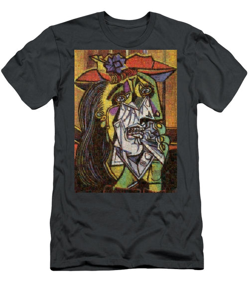 Tribute to Picasso - 2 - T-Shirt - ALEFBET - THE HEBREW LETTERS ART GALLERY