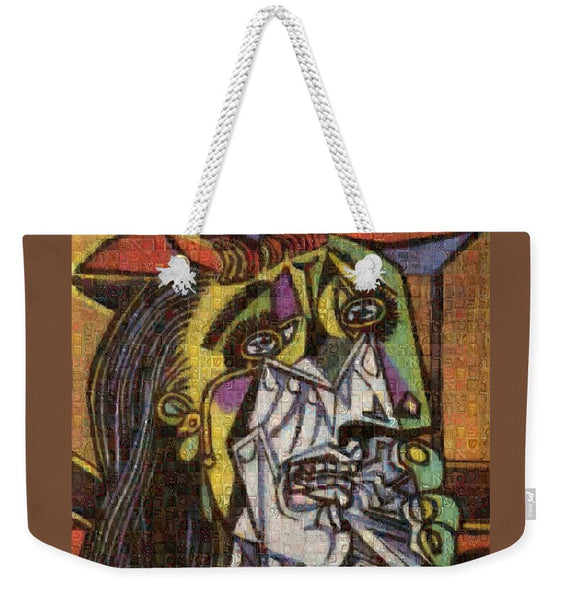 Tribute to Picasso - 2 - Weekender Tote Bag - ALEFBET - THE HEBREW LETTERS ART GALLERY