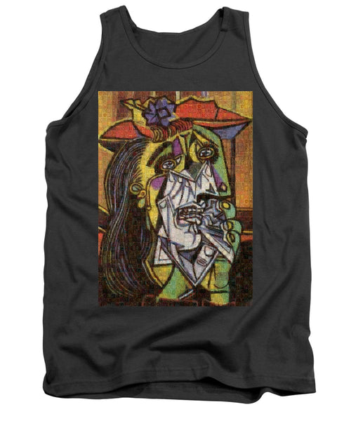 Tribute to Picasso - 2 - Tank Top - ALEFBET - THE HEBREW LETTERS ART GALLERY