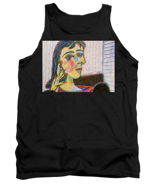 Tribute to Picasso - 3 - Tank Top - ALEFBET - THE HEBREW LETTERS ART GALLERY