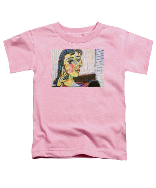 Tribute to Picasso - 3 - Toddler T-Shirt - ALEFBET - THE HEBREW LETTERS ART GALLERY