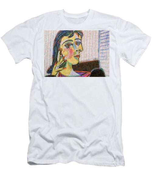 Tribute to Picasso - 3 - T-Shirt - ALEFBET - THE HEBREW LETTERS ART GALLERY