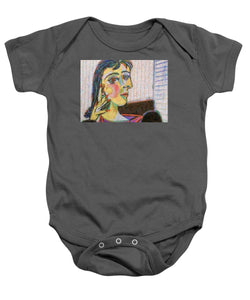 Tribute to Picasso - 3 - Baby Onesie - ALEFBET - THE HEBREW LETTERS ART GALLERY