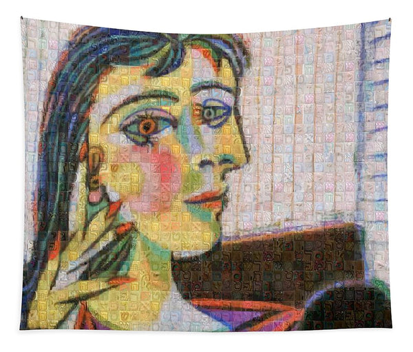 Tribute to Picasso - 3 - Tapestry - ALEFBET - THE HEBREW LETTERS ART GALLERY