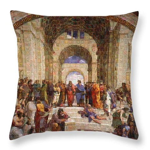 Tribute to Raffaello - Throw Pillow - ALEFBET - THE HEBREW LETTERS ART GALLERY