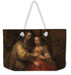 Tribute to Rembrandt - Weekender Tote Bag - ALEFBET - THE HEBREW LETTERS ART GALLERY