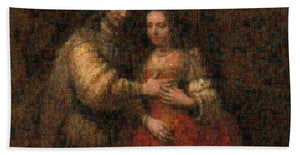 Tribute to Rembrandt - Bath Towel - ALEFBET - THE HEBREW LETTERS ART GALLERY