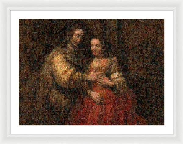 Tribute to Rembrandt - Framed Print - ALEFBET - THE HEBREW LETTERS ART GALLERY