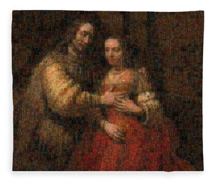 Tribute to Rembrandt - Blanket - ALEFBET - THE HEBREW LETTERS ART GALLERY