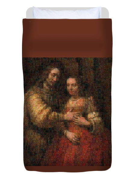 Tribute to Rembrandt - Duvet Cover - ALEFBET - THE HEBREW LETTERS ART GALLERY