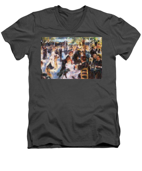Tribute to Renoir - Men's V-Neck T-Shirt - ALEFBET - THE HEBREW LETTERS ART GALLERY