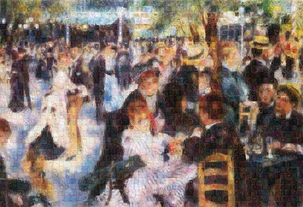 Tribute to Renoir - Art Print - ALEFBET - THE HEBREW LETTERS ART GALLERY