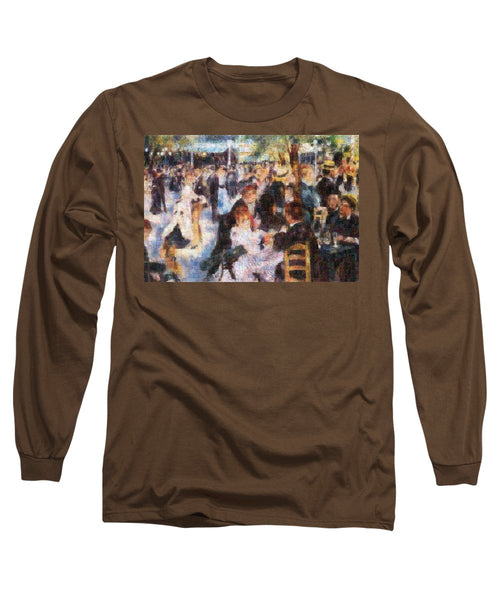 Tribute to Renoir - Long Sleeve T-Shirt - ALEFBET - THE HEBREW LETTERS ART GALLERY