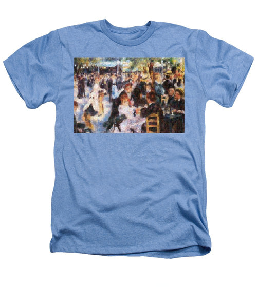 Tribute to Renoir - Heathers T-Shirt - ALEFBET - THE HEBREW LETTERS ART GALLERY