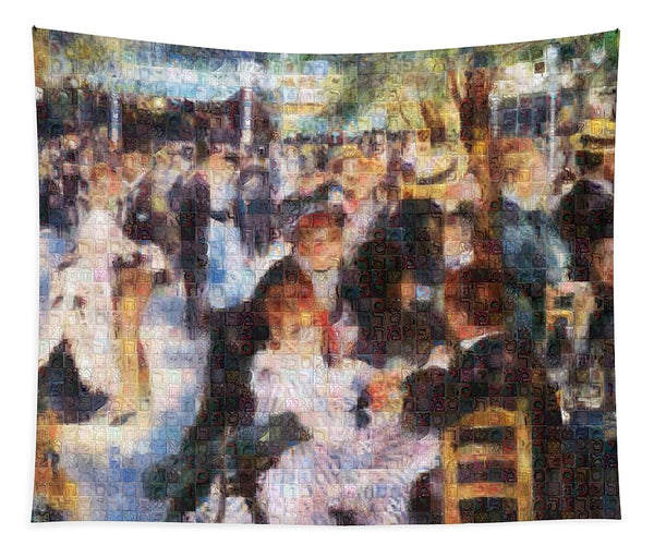 Tribute to Renoir - Tapestry - ALEFBET - THE HEBREW LETTERS ART GALLERY