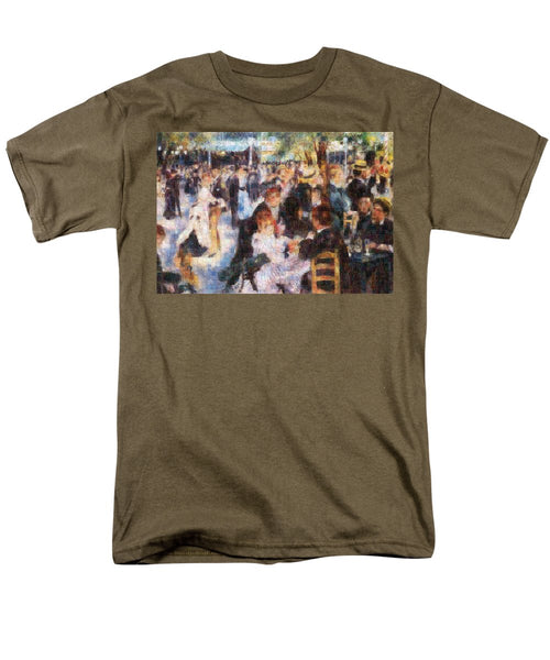 Tribute to Renoir - Men's T-Shirt  (Regular Fit) - ALEFBET - THE HEBREW LETTERS ART GALLERY