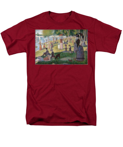 Tribute to Seurat - Men's T-Shirt  (Regular Fit) - ALEFBET - THE HEBREW LETTERS ART GALLERY