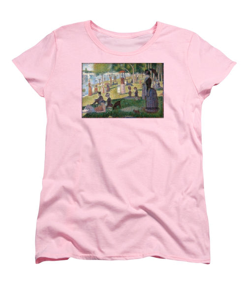 Tribute to Seurat - Women's T-Shirt (Standard Fit) - ALEFBET - THE HEBREW LETTERS ART GALLERY