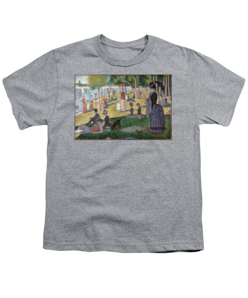 Tribute to Seurat - Youth T-Shirt - ALEFBET - THE HEBREW LETTERS ART GALLERY