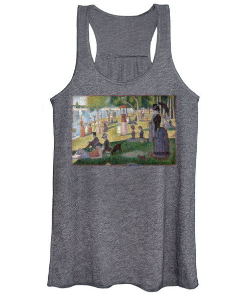 Tribute to Seurat - Women's Tank Top - ALEFBET - THE HEBREW LETTERS ART GALLERY