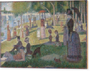 Tribute to Seurat - Wood Print - ALEFBET - THE HEBREW LETTERS ART GALLERY