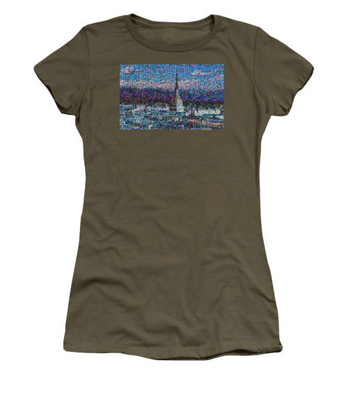 Tribute to Torino - 2 - Women's T-Shirt - ALEFBET - THE HEBREW LETTERS ART GALLERY