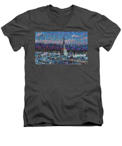 Tribute to Torino - 2 - Men's V-Neck T-Shirt - ALEFBET - THE HEBREW LETTERS ART GALLERY