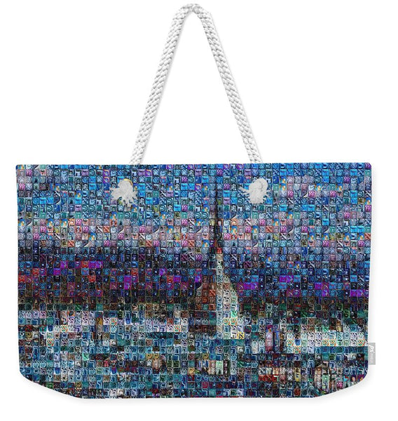 Tribute to Torino - 2 - Weekender Tote Bag - ALEFBET - THE HEBREW LETTERS ART GALLERY