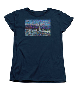 Tribute to Torino - 2 - Women's T-Shirt (Standard Fit) - ALEFBET - THE HEBREW LETTERS ART GALLERY