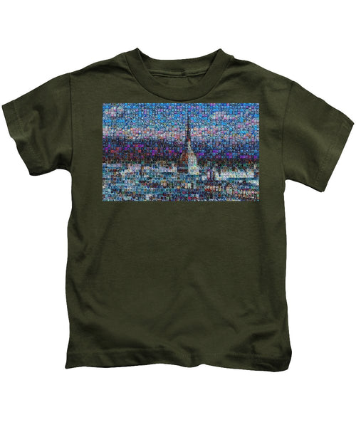 Tribute to Torino - 2 - Kids T-Shirt - ALEFBET - THE HEBREW LETTERS ART GALLERY
