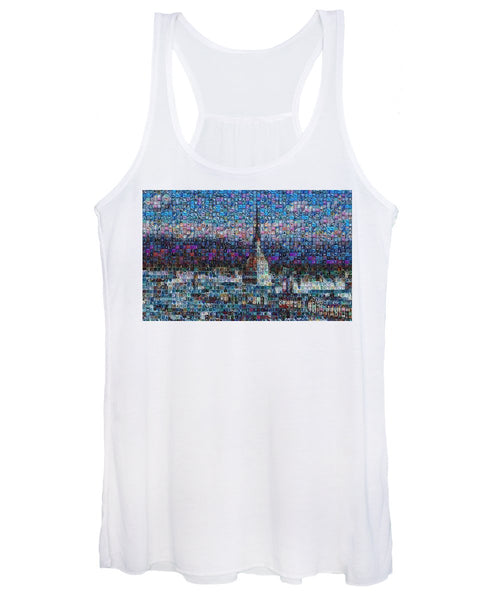 Tribute to Torino - 2 - Women's Tank Top - ALEFBET - THE HEBREW LETTERS ART GALLERY