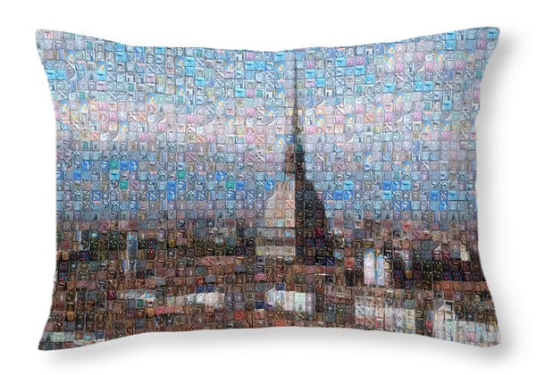 Tribute to Torino - Throw Pillow - ALEFBET - THE HEBREW LETTERS ART GALLERY