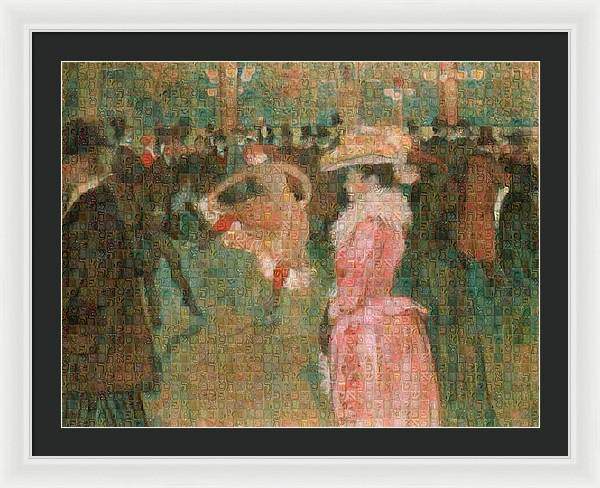Tribute to Toulouse Lautrec - Framed Print - ALEFBET - THE HEBREW LETTERS ART GALLERY
