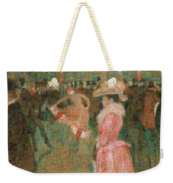 Tribute to Toulouse Lautrec - Weekender Tote Bag - ALEFBET - THE HEBREW LETTERS ART GALLERY