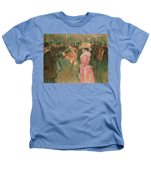 Tribute to Toulouse Lautrec - Heathers T-Shirt - ALEFBET - THE HEBREW LETTERS ART GALLERY